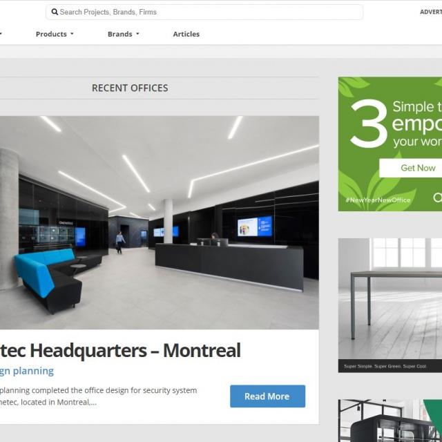For design planning bureaux Genetec Montréal