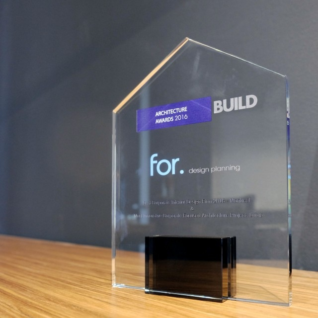 we are the 2016 Best Corporate Interior Design Firm, says BUILD