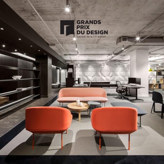 FOR. wins a Grand Prix du Design 2018 for d|vision21 showroom !